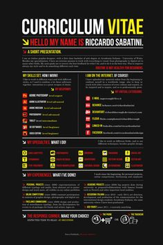 RESUME 2011 BLACK by ~RichardTheRough (Riccardo Sabatini) on deviantART