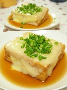2 minutes! Atsuage with Cheese 2分で1品@チンするだけの厚揚げチーズ