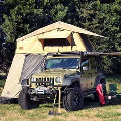 Tuff Stuff Overland Rooftop Camping Tent with Annex Room- Black Driving Cover | Roof Top Tent Store