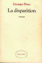 """couverture de La Disparition, roman de Georges Perec, écrit SANS jamais utiliser la lettre """"e"""""""