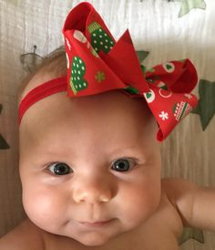 Hey, I found this really awesome Etsy listing at https://www.etsy.com/listing/253925365/baby-girl-christmas-headbands-variety-of