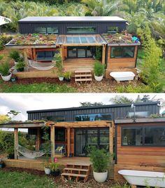 Modern Tiny House, Tiny House Cabin, Tiny House Living, Tiny House Plans, Tiny House Design, My House, Green House Design, Cabin House Plans, House Kits