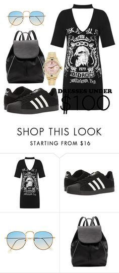 """""""Untitled #218"""" by dongoodleo ❤ liked on Polyvore featuring WearAll, adidas, Witchery and Rolex"""