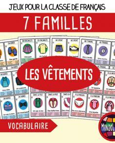 Jeu de 7 familles pour la classe de français / FLE sur la conjugaison des verbes entendre, mettre, vendre, répondre, dire, lire, sortir au présent.