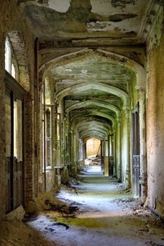 A Beautiful Bride - Photo of the Abandoned Château de Mesen Derelict Places, Derelict Buildings, Old Buildings, Abandoned Places, Haunted Places, Abandoned Mansions, Abandoned Houses, Urban Decay Photography, Gothic