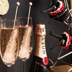 Rock candy in champagne (: Good idea for New Year