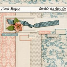 Cherish the Thought mini kit freebie by Sugarplum Paperie #scrapbook #digiscrap #scrapbooking #digifree #scrap