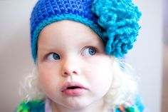 girlie beanie , crocheted in alpaca-wool , soft and warm   I can make this beanie in the size you desire   just let me know the age of your child , th