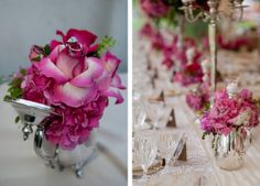 DIY: to create centerpieces you'll want a collection of objects similar in shape and size; filled with floral or grouped together, they are stunning and sophisticated.