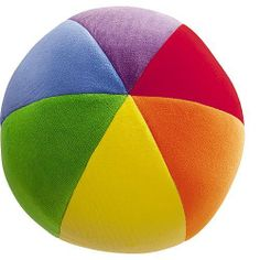 """Baby Color Fun Ball - 6 1/2"""" by Gund. It has color words on each section."""