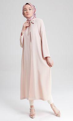 M5181 Abaya Fashion, Fashion Wear, Denim Fashion, Hijab Dress, Hijab Outfit, Modern Hijab, Strapless Dress, Blouse, How To Wear