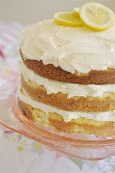 Lemon Butter Cream Cake