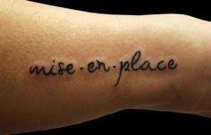 Todo en la vida necesita un orden... #MiseEnPlace