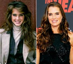 Brooke Shields Then: Known for playing a child prostitute at the age of 12 in the controversial Pretty Baby and the provocative Calvin Klein jeans print and TV ads she starred in at the age of 14. Married to tennis sensation Andre Agassi for two years in the '90s. Now: The Princeton grad is married to Chris Henchy, has two kids with him, and is a working actress with TV, movie, and Broadway appearances under her belt.