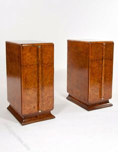 Quality Pair Of Art Deco Bedside Cabinets - Antiques Atlas
