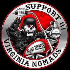 Support 81 Worldwide - HAMC - Hells Angels never Die - Support 81 Nomads