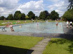 Lammas Land paddling pool. One of the few open air pools in the city, this one meant for small children.