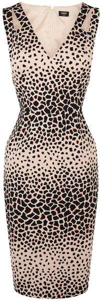 OASIS LONDON Animal Print Pencil Dress - Lyst