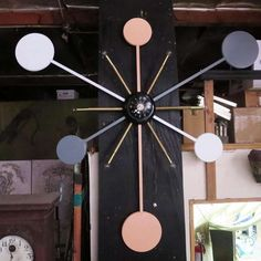 Massive Lighted Atomic Style Wall Clock 2