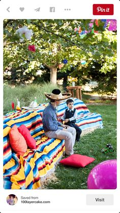 Picnic option in garden to accommodate more people