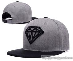 Diamond Supply Co Snapback Hats Caps Gray Black 2 Get snapback hats from www.hats-cool.com