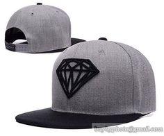Diamond Supply Co Snapback Hats Caps Gray Black 2