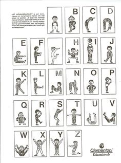 Letters uitbeelden