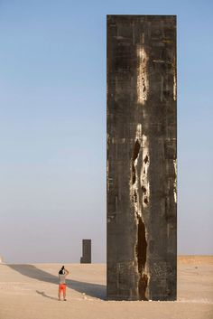 "The most recent and biggest public art work made by the North American sculptor Richard Serra in Qatar, spreads along the Zekreet desert. "" East- West/ West- East"" is a sculpture composed by four major steel structures,  more than fourteen meters high ..."