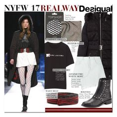 """""""NYFW '17 REALWAY : Desigual"""" by nindi-wijaya ❤ liked on Polyvore featuring Marc Jacobs, Desigual, Sandy Liang, Étoile Isabel Marant, Jimmy Choo and Topshop"""