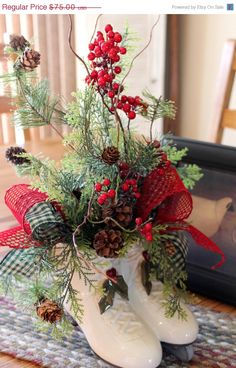 20 OFF SALE Christmas Centerpiece Country Decor