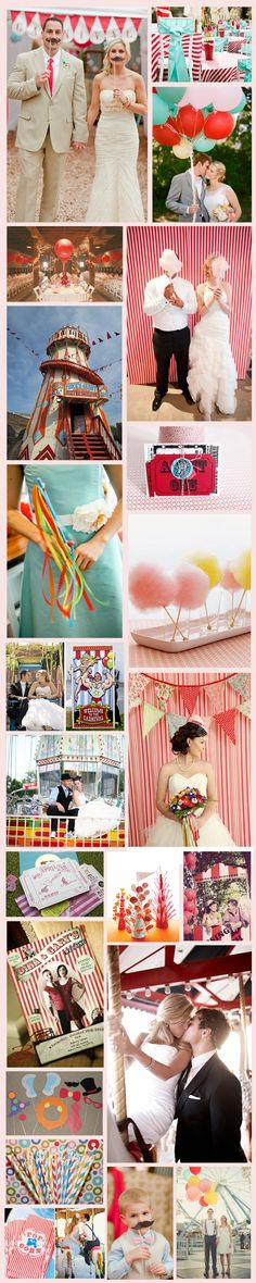 Wednesday Wedding Inspiration: Carnival Theme, good round up post