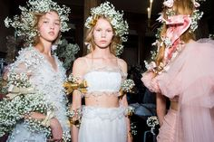 Behind the scenes at Rodarte from Paris couture week.