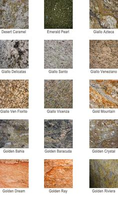 Charmant Granite Colors