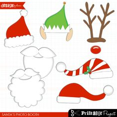 Christmas Photo Booth Free Printables | Christmas party activities ...