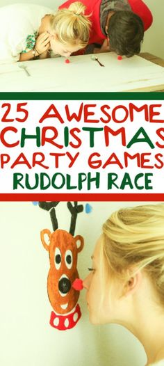 25 funny Christmas party games that are great for adults, for groups, for teens, and even for kids! Try them at the office for a work party, at school for a class party, or even at an ugly sweater party! I can't wait to try these for family night this Christmas season! Funny Christmas Party Games, Xmas Games, Holiday Games, Holiday Fun, Christmas Party Ideas For Adults, Christmas Decorations Diy For Teens, Holiday Foods, Christmas Office Games, Christmas Games For Adults Holiday Parties