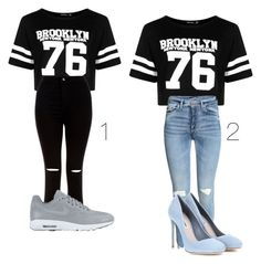 """""""Untitled #81"""" by lifestyle-outfits on Polyvore featuring Boohoo, New Look, NIKE and Miu Miu"""