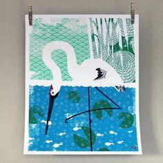 Crane Screen Print - Large » Pretty Dandy