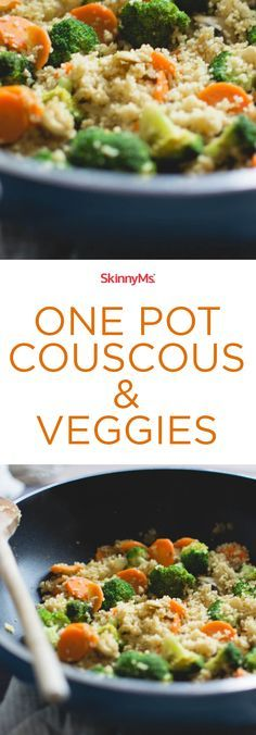 This One Pot Couscous and Veggies dish is perfect for my low-carb days! #lowcarb #dinneroptions