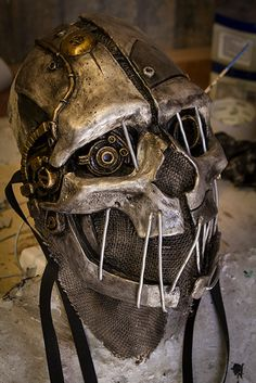 "No Honor skull mask, in the style of ""Corvo"" from the video game ""Dishonored"" by Gryphons Egg Steampunk Mask, Gothic Steampunk, Diesel Punk, Mad Max, Corvo Mask, Apocalypse, Cosplay, Masquerade Halloween, Cyberpunk"