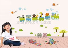 Cheap home giant, Buy Quality home office decor pictures directly from China art effects Suppliers:    Wall Sticker Animal Train Nursery room baby kdis decor decals mural art HomeBrand new ,Removable Waterproof Non