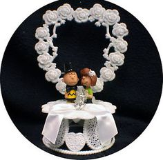 Charlie Brown & Peppermint Patty Wedding Cake Topper Peanuts Gang Funny Classic