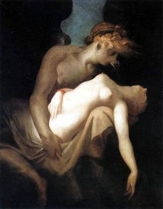Amor and Psyche by Johann Heinrich Fussli