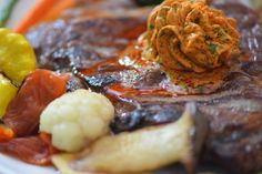 von kuechenereignisse.com  Steak mit Kräuterbutter