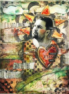 Complete - collage on canvas by finnabair, via Flickr