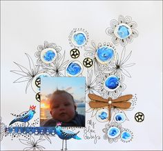 couleurs et mixed media: Scrap - My blue baby