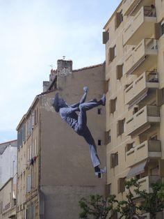 Marseille par JR - Yann Raimond, Le Povençal 51 (1970), rue Auzias - Photo ©WonderBrunette