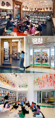 Amazing design for NYC public schools... Put this kind of art in all schools and kids' rooms! Jaw-dropping to me!