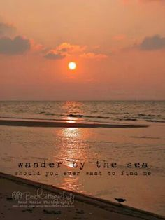 Wander by the sea - sunset