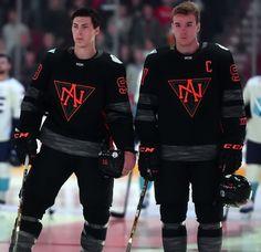 93 & 97 Ryan Nugent-Hopkins and Connor McDavid - Team North America Connor Mcdavid, Hockey World Cup, Usa Hockey, Hockey Season, Nhl News, Sports Uniforms, Edmonton Oilers, Field Hockey, Hockey Players