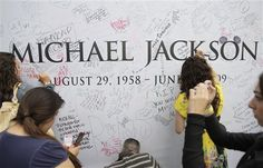 Michael Jackson's grave at Forest Lawn Memorial Park. i will visit liberace, bette davis, and marvin gaye amongst others while i am there.